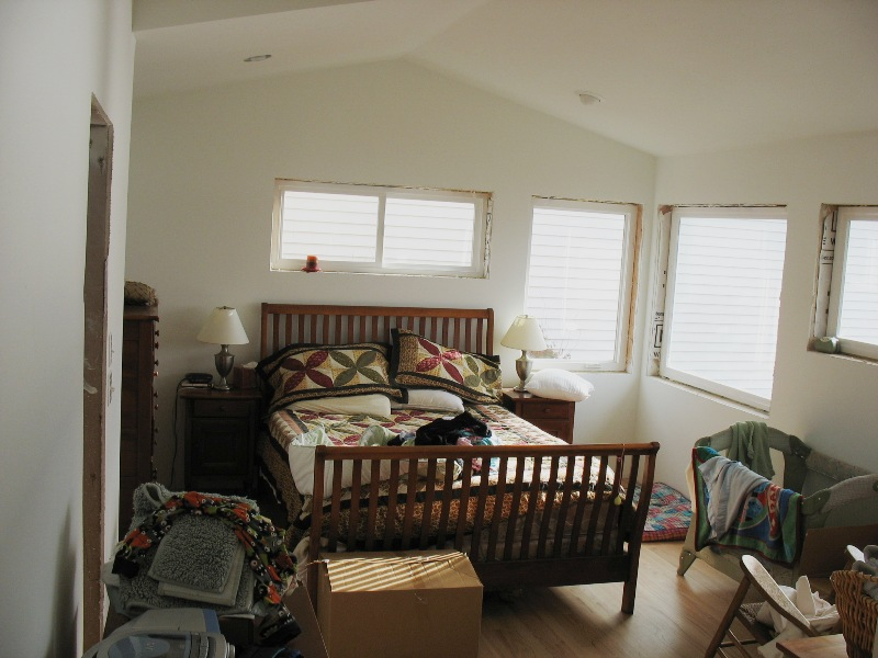 The porter family album Master bedroom with a crib